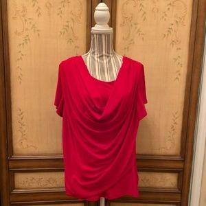 Draped neck blouse